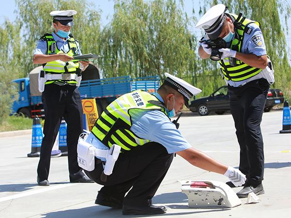 道路交通事故现场勘查技能大比武